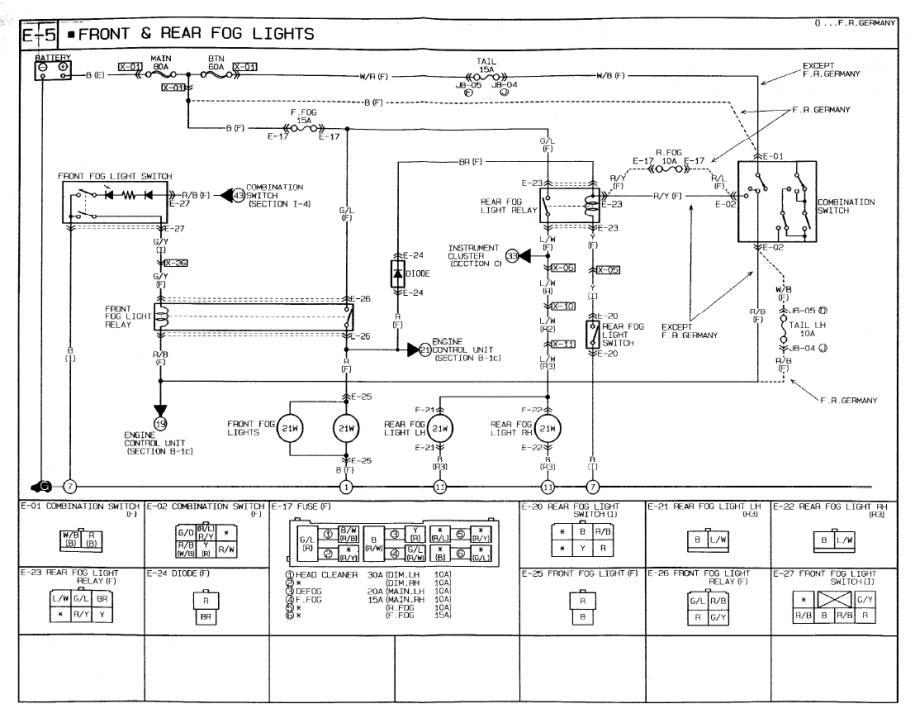 mazda 5 fog light wiring diagram