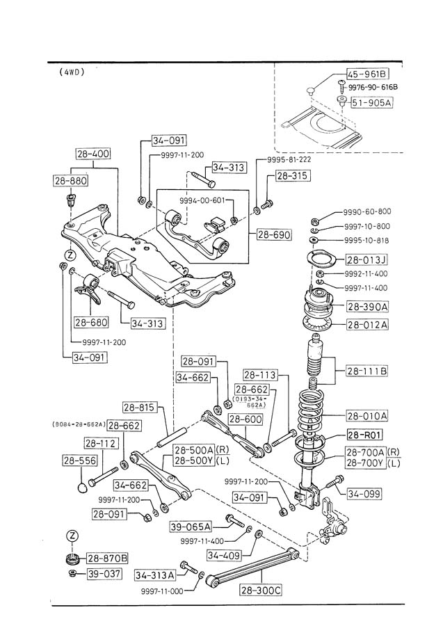 JP Motorsports BG/BF/GT4 Rear subframe production and