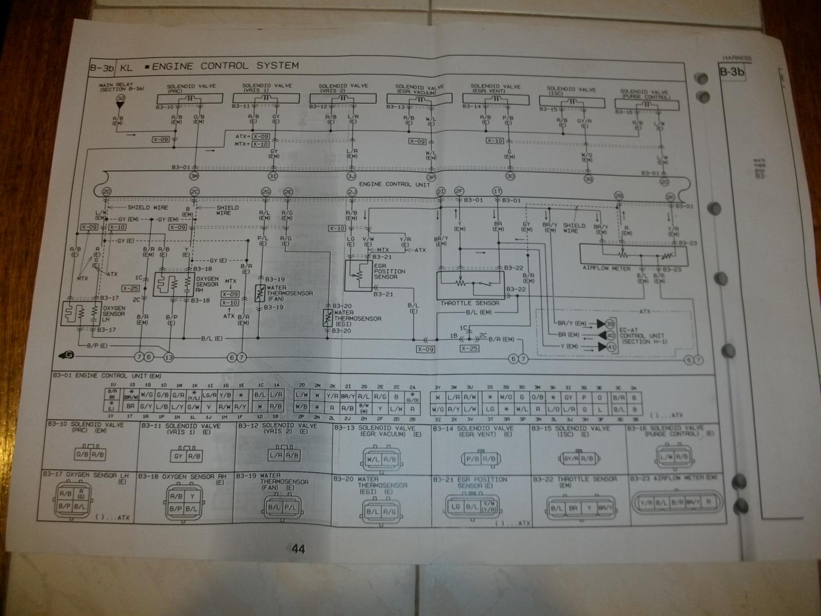 Klze Pin Outs Kl31 1993 Mazda Mx3 Engine Diagram Attached Images